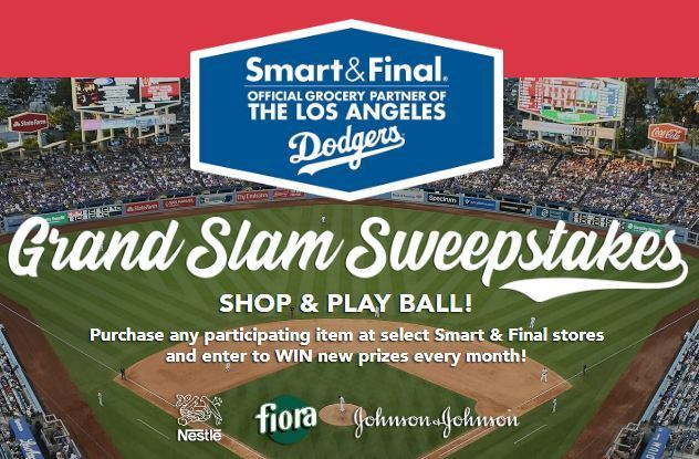 Smart & Final LA Dodgers Grand Slam Sweepstakes - Win Trip