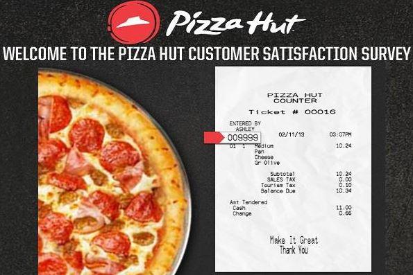 Tell Pizza Hut Customer Satisfaction Survey - Win Cash Prizes