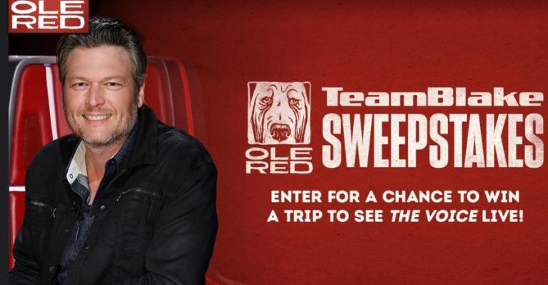 The Voice Team Blake Flyaway Sweepstakes – Win Tickets