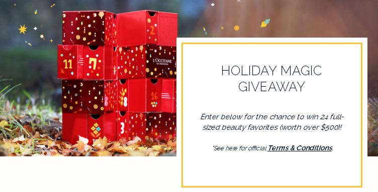 Usa Loccitane Holiday Magic Sweepstakes – Win Loccitane Products