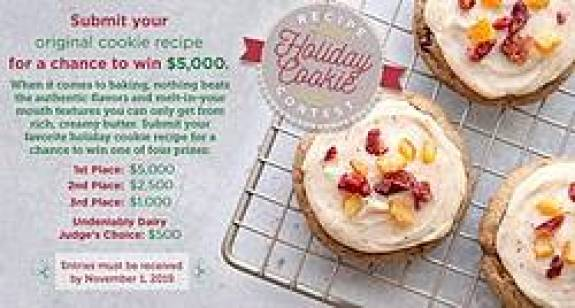 Go Bold With Butter Holiday Cookie Recipe Contest - Win Cash Prizes