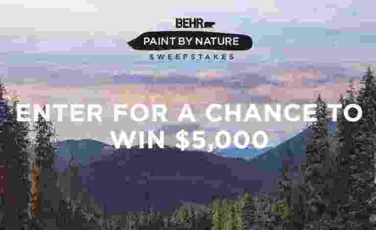 BEHR Paint By Nature Sweepstakes - Win Cash Prizes