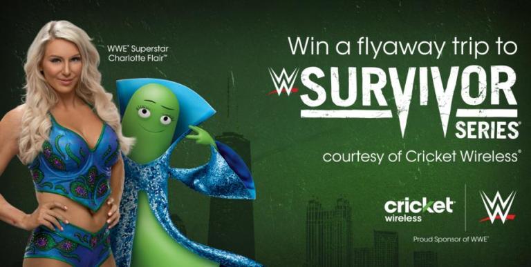 Cricket Wireless Survivor Series Flyaway Sweepstakes – Win Tickets