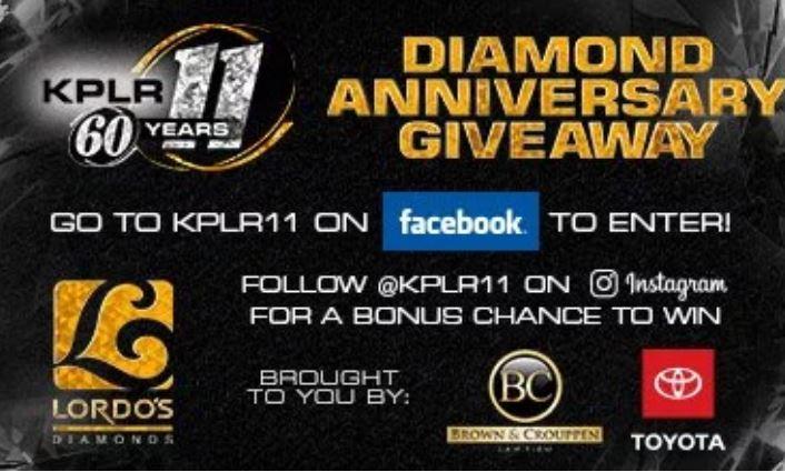 Fox2now KPLR 11 Diamond Anniversary Sweepstakes - Win Diamond
