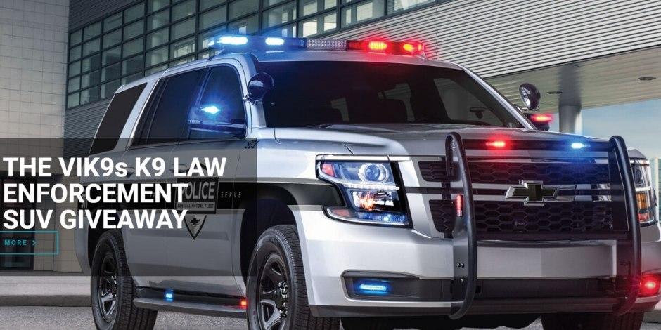 VIK9s K9 Law Enforcement SUV Giveaway - Win Car