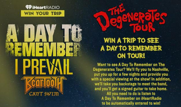 Join A Day To Remember On Tour Sweepstakes - Win Tickets