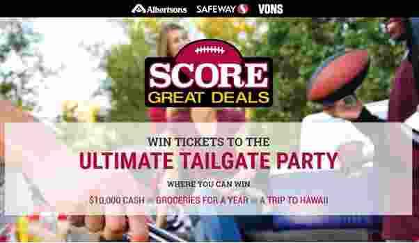 Safeway Score Great Deals Sweepstakes - Win Tickets