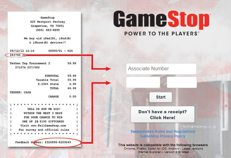 Tell Gamestop Feedback Survey - Win Gift Card