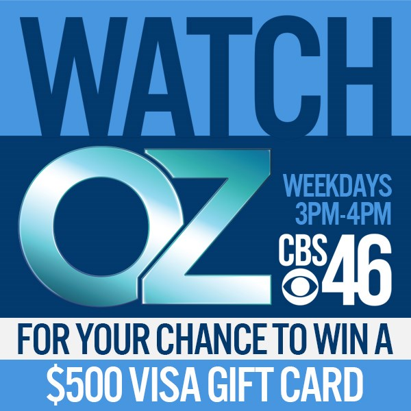CBS46 Dr OZ Code Word Contest - Win Gift Card
