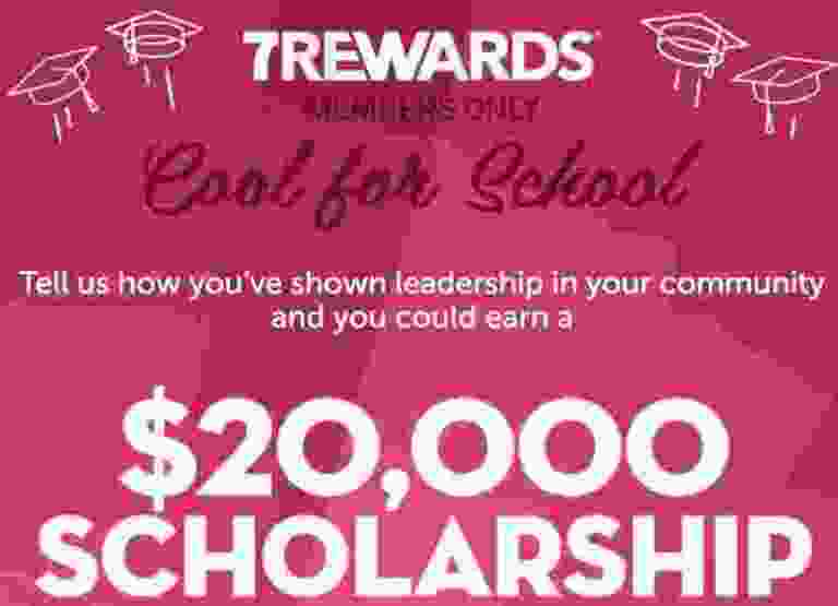 7Rewards $20000 Slurpee Scholarship Contest - Win Check