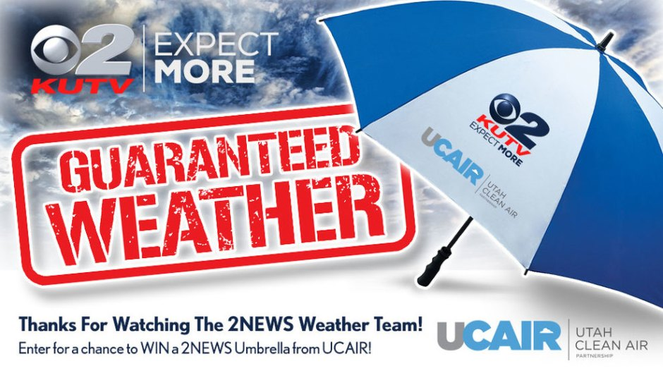 KUTV Guaranteed Weather Umbrella Sweepstakes - Win Prize
