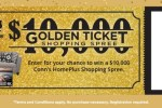 Conn HomePlus Golden Ticket Sweepstakes – Win Tickets