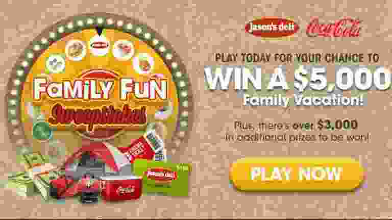 Jasons Deli Family Fun Sweepstakes - Win Tickets