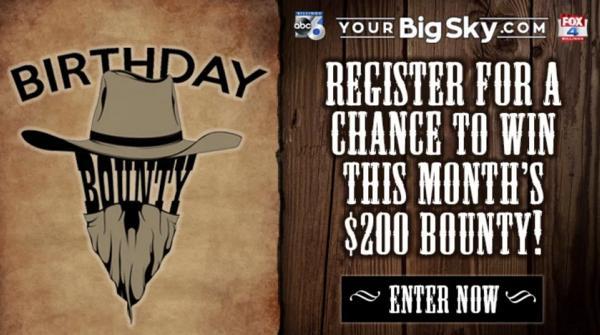 KSVI KHMT November Birthday Bounty Sweepstakes - Win Gift Card