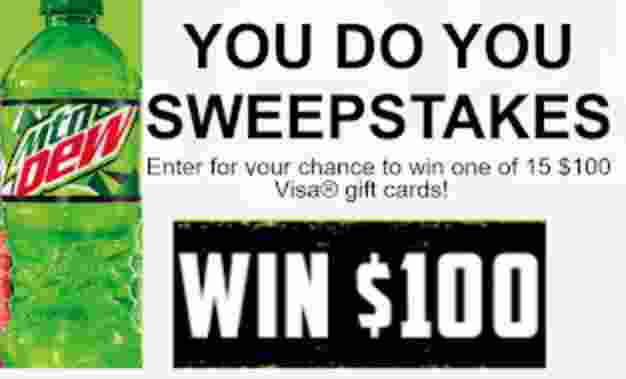 Mountain Dew You DO You Sweepstakes - Win Gift Card