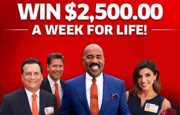 PCH Win $2500 A Week For Life Sweepstakes - Win Cash Prizes
