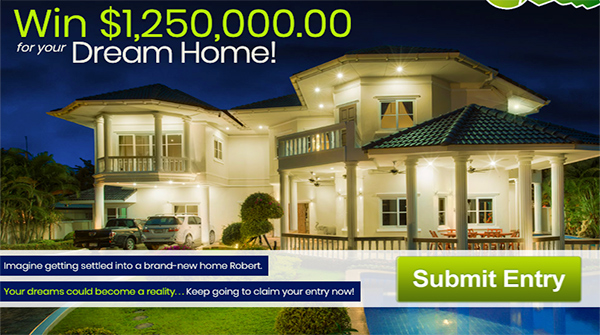 PCH $1250000 Dream Home Giveaway - Win Cash Prizes