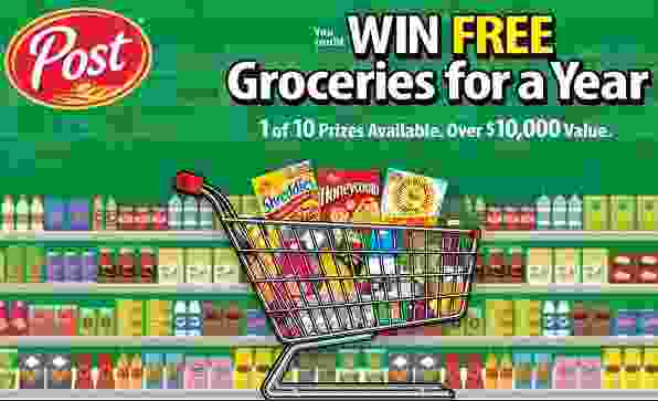 Post Cereal Free Groceries For A Year Sweepstakes - Win Check