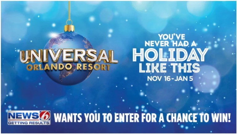 WKMG Holidays At Universal Orlando Resort Contest - Win Trip