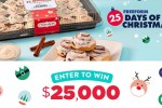 Cinnabons 25 Days of Christmas Sweepstakes - Win Cash Prizes