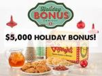 Bojangles Holiday Bonus Contest - Win Cash Prizes