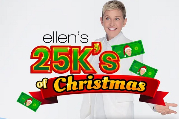 Ellen Shop 12 Days $25K Giveaway - Win Cash Prizes