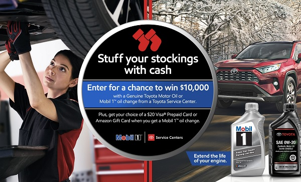 Toyota Mobil 1 Cash Sweepstakes - Win Cash Prizes