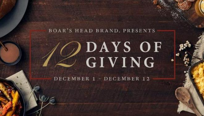 Boars Head 12 Days of Giving Sweepstakes - Win Gift Card