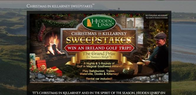 Hidden Links Christmas Sweepstakes - Win Trip
