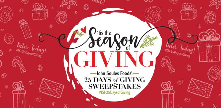 John Soules Foods Season Of Giving Contest - Win Gift Card