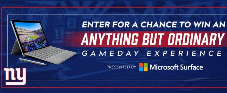 New York Giants Anything But Ordinary Sweepstakes - Win Tickets