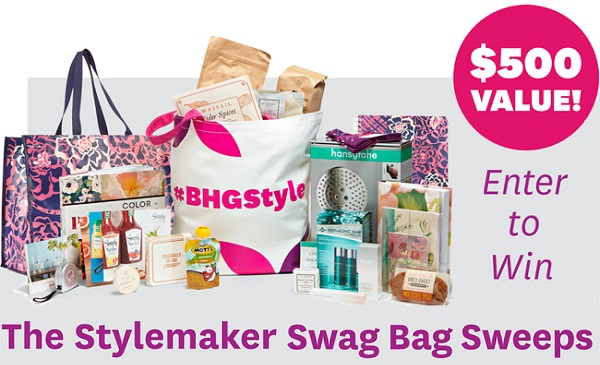 BHG Stylemaker Swag Bag Sweepstakes - Win Prize