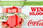 Coca-Cola Pay down Your Holiday Bills Sweepstakes - Win Cash Prizes