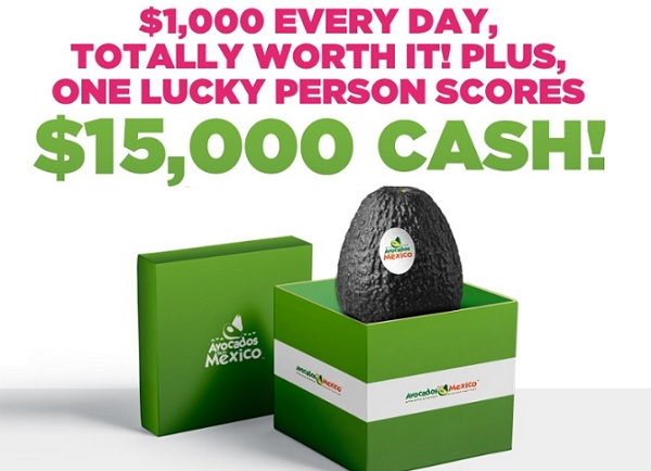 Avocados from Mexico $1000 A Day Giveaway - Win Cash Prizes