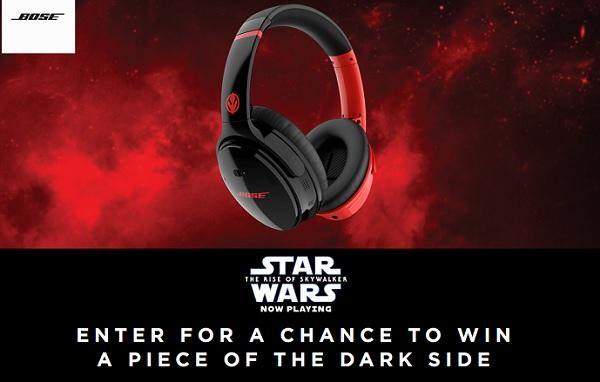 Bose Star Wars Dark Side Sweepstakes - Win Trip