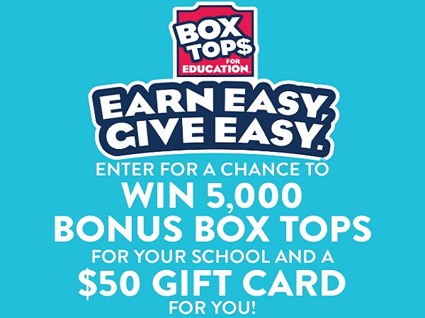 Box Tops For Education Earn Easy Give Easy Sweepstakes