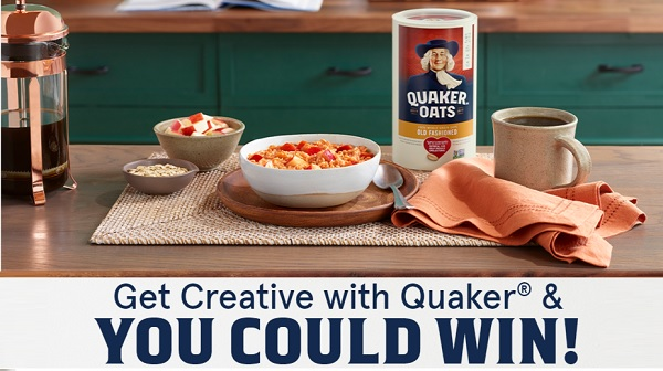 Cook With Quaker Sweepstakes - Win Cash Prizes