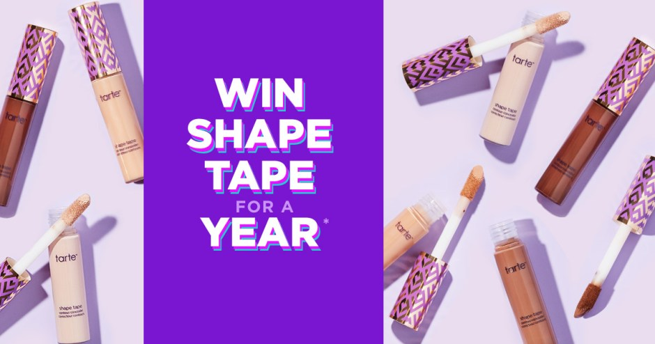 Tarte Win Shape Tape for a Year Sweepstakes - Win Prize