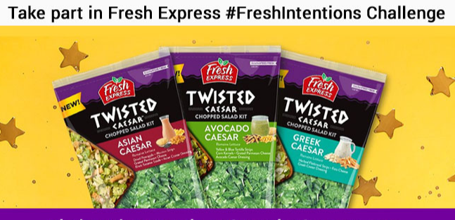 Fresh Express Fresh Intentions Challenge Sweepstakes - Win Gift Card
