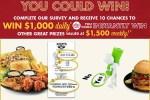 My Zaxbys Visit Survey Sweepstakes - Win Cash Prizes