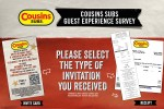 Cousins Subs Survey Sweepstakes - Win Cash Prizes