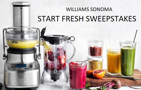 Williams Sonoma Start Fresh Sweepstakes