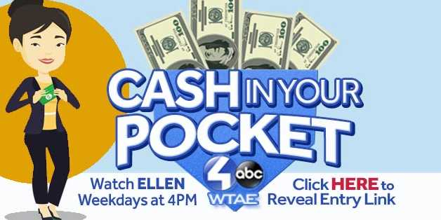 WTAE Ellen Cash In Your Pocket Sweepstakes - Win Gift Card