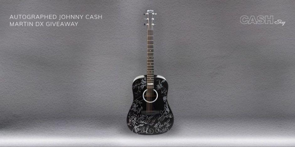 Johnny Cash Autographed Martin DX Giveaway