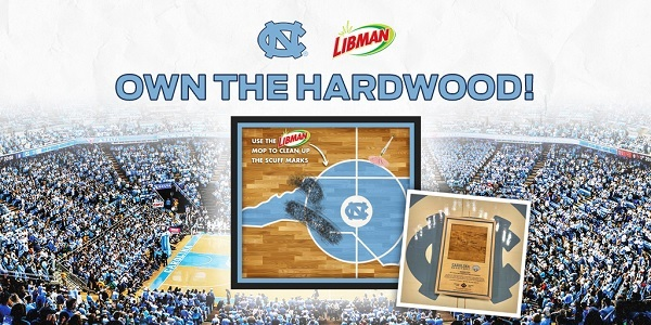 UNC Libman Own The Hardwood Instant Win Game