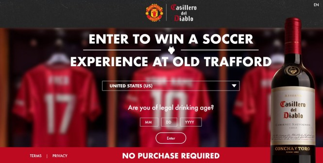 Casillero Manchester Soccer Experience Sweepstakes
