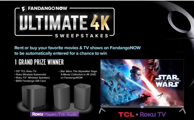 FandangoNow Ultimate 4K Sweepstakes