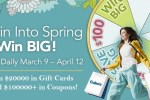 Gabe's Spin into Spring Instant Win Game - Win Gift Card