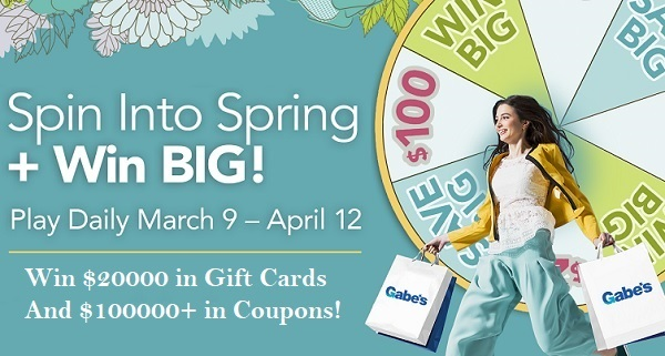 Gabes Spin into Spring Instant Win Game - Win Gift Card