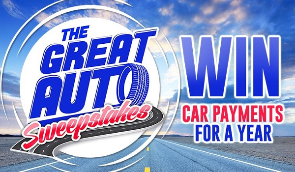 Car Payments for Year Sweepstakes 2020